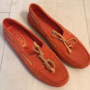 Tods suede boat shoes